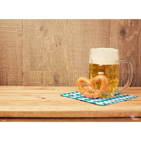 Bier & Brezel - Tischset aus Papier 44 x 32 cm
