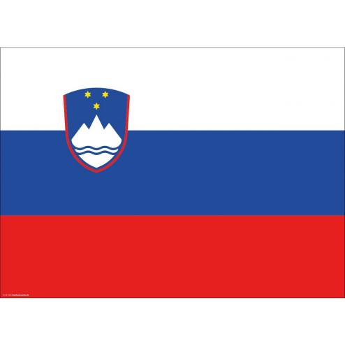 Flagge Slowenien - Tischset aus Papier 44 x 32 cm