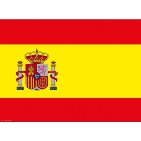 Flagge Spanien - Tischset aus Papier 44 x 32 cm