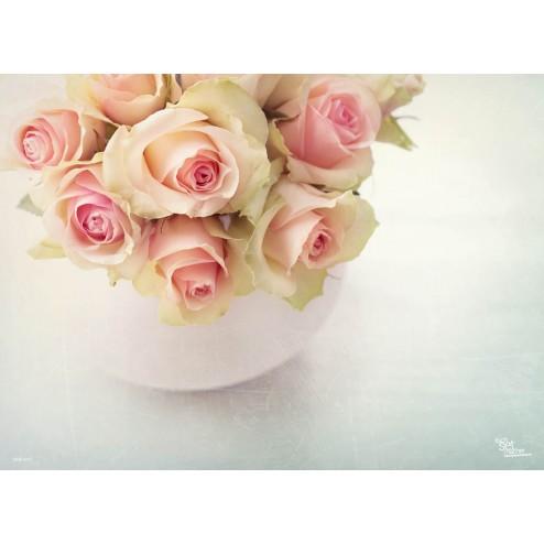 Tischset | Platzset - Rosen - zum Selbstgestalten aus Papier - 44 x 32 cm