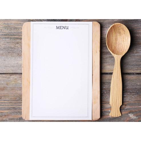 Tischset | Platzset - Holzlöffel - zum Selbstgestalten aus Papier - 44 x 32 cm