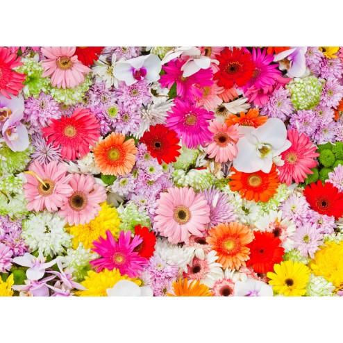 Buntes Blütenmeer - Tischset aus Papier 44 x 32 cm