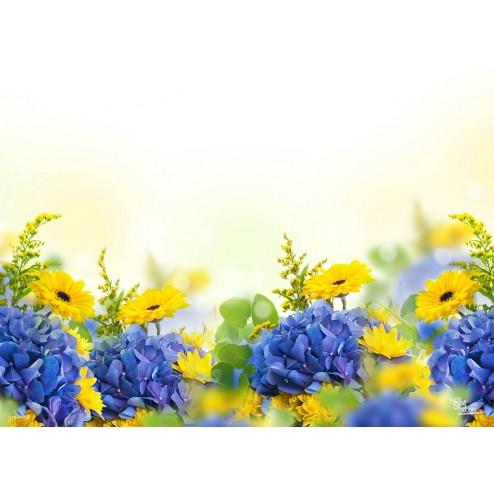 Tischset | Platzset - Blumenwiese - aus Papier - 44 x 32 cm