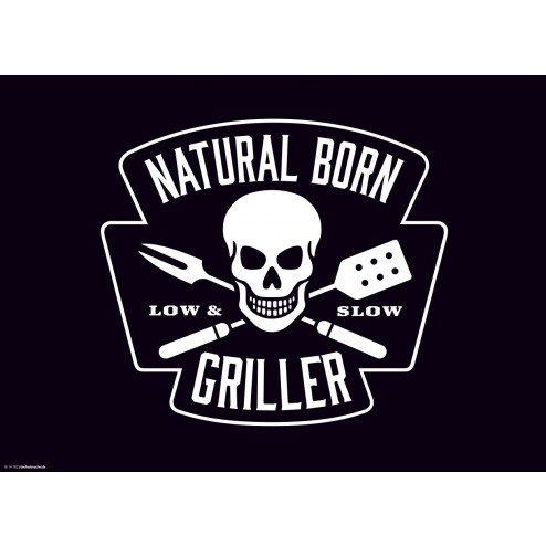 Natural Born Griller Schwarz  - Tischset aus Papier 44 x 32 cm