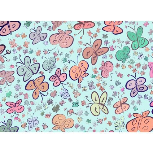 Schmetterlingsgrafik bunt  - Tischset aus Papier 44 x 32 cm
