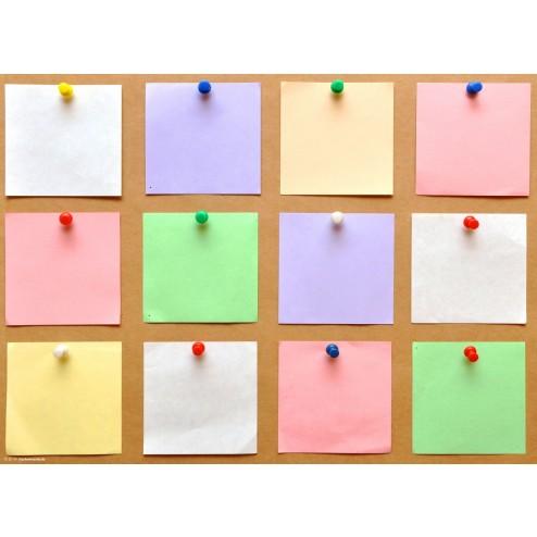 Pinwand mit bunten Zetteln - Tischset aus Papier 44 x 32 cm