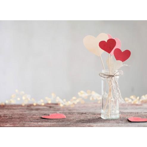 Herzchendeko aus Papier und Holz - Tischset aus Papier 44 x 32 cm
