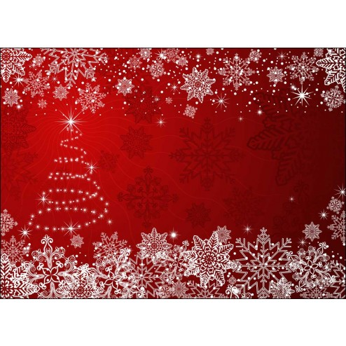 Weihnachtsbaum mit Schneekristallen - Tischset aus Papier 44 x 32 cm