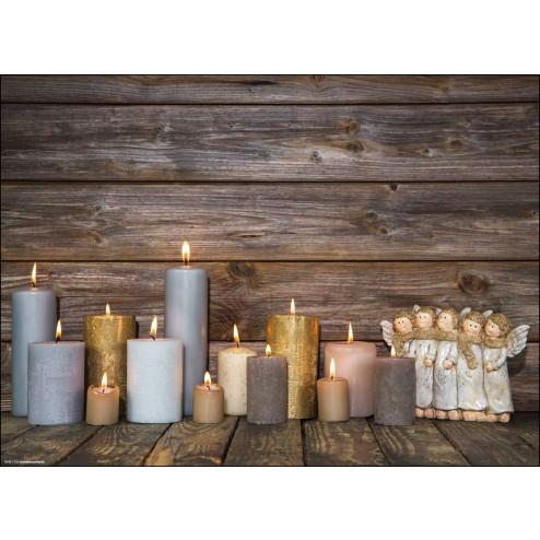 Weihnachtssets mit Kerzen und Engeln - Tischset aus Papier 44 x 32 cm