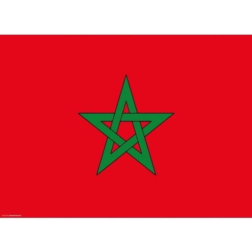 Flagge Marokko - Tischset aus Papier 44 x 32 cm