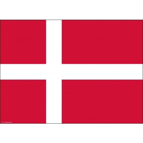 Flagge Dänemark - Tischset aus Papier 44 x 32 cm