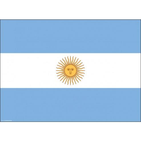 Flagge Argentinien - Tischset aus Papier 44 x 32 cm
