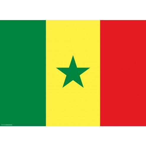 Flagge Senegal - Tischset aus Papier 44 x 32 cm