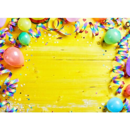 Luftballons und Luftschlangen  - Tischset aus Papier 44 x 32 cm