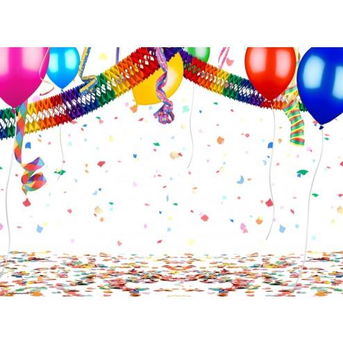 Party-Deko mit Luftballons und Girlande - Tischset aus Papier 44 x 32 cm