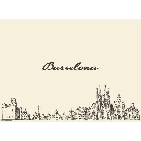 Barcelona - Tischset aus Papier 44 x 32 cm