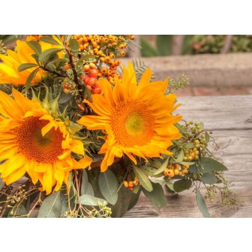 Sonnenblumenstrauß - Tischset aus Papier 44 x 32 cm