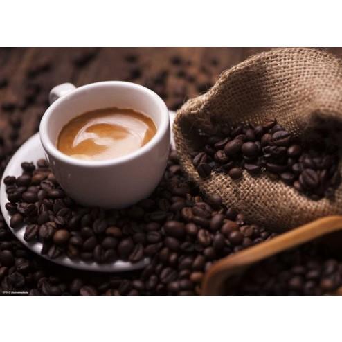 Kaffeebohnen mit Tasse - Tischset aus Papier 44 x 32 cm