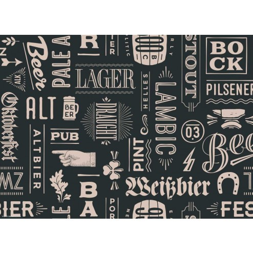 Biersorten - Tischset aus Papier 44 x 32 cm
