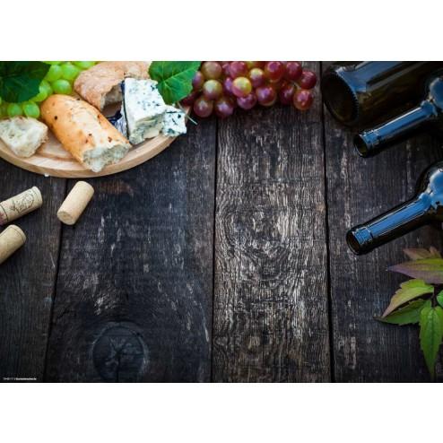 Wein und Käse - Tischset aus Papier 44 x 32 cm