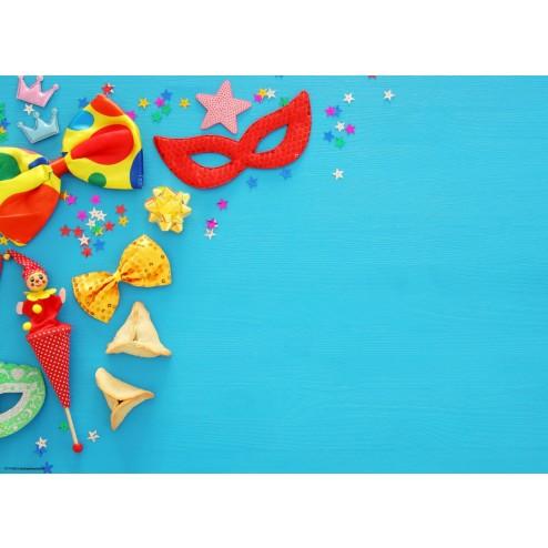 Blaue Partydeko mit Sternen - Tischset aus Papier 44 x 32 cm