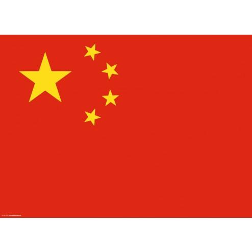 Flagge China - Tischset aus Papier 44 x 32 cm