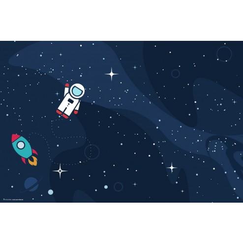 Tischset | Platzset - Astronaut im Weltall - aus Papier - 44 x 32 cm