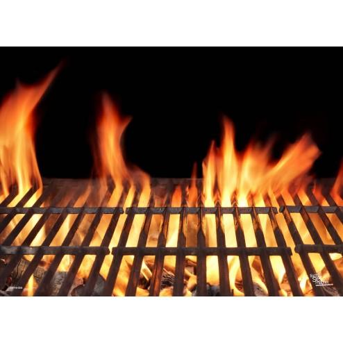 Tischset | Platzset - Grillrost mit Flammen - aus Papier - 44 x 32 cm