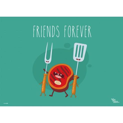 Tischset | Platzset - Friends Forever - aus Papier - 44 x 32 cm