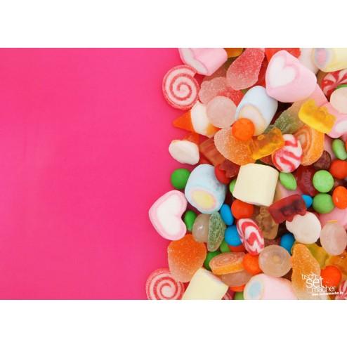 Süßigkeiten auf pinkem Hintergrund - Tischset aus Papier 44 x 32 cm