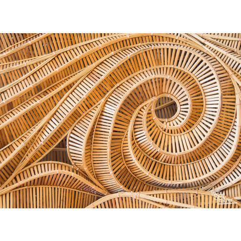 Holzschnecke - Tischset aus Papier 44 x 32 cm