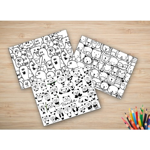 tischsets platzsets malvorlage komplettset jungs aus papier 44 x 32 cm. Black Bedroom Furniture Sets. Home Design Ideas