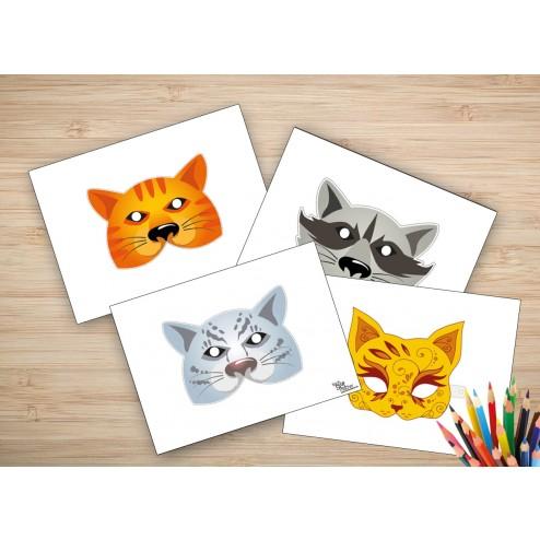 """Tischsets   Platzsets - Masken """"flauschig"""" aus Papier - 44 x 32 cm"""