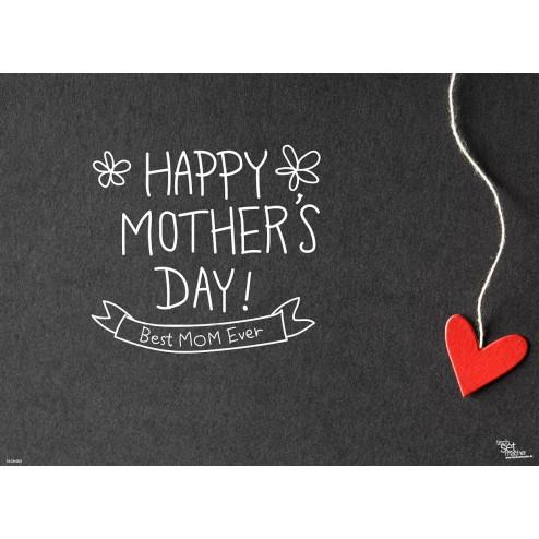 Tischset | Platzset - Best Mom ever - aus Papier - 44 x 32 cm
