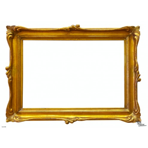Tischset | Platzset - Rahmen gold - zum Selbstgestalten aus Papier - 44 x 32 cm