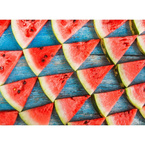 Tischset   Platzset - Melonendreieckchen - aus Papier - 44 x 32 cm