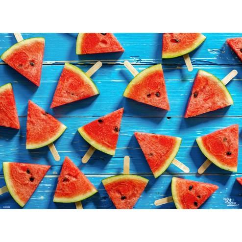 Tischset | Platzset - Melonendreieckchen am Stiel - aus Papier - 44 x 32 cm