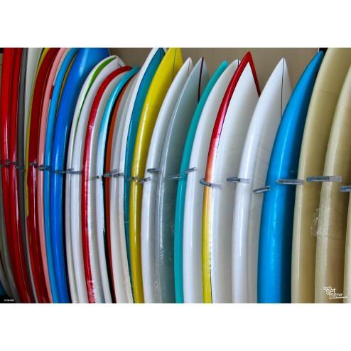 Tischset   Platzset - bunte Surfbretter - aus Papier - 44 x 32 cm