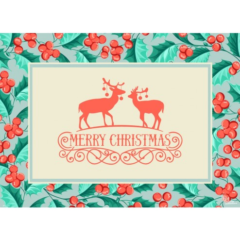 Tischsets | Platzsets - Merry Christmas - aus Papier - 44 x 32 cm