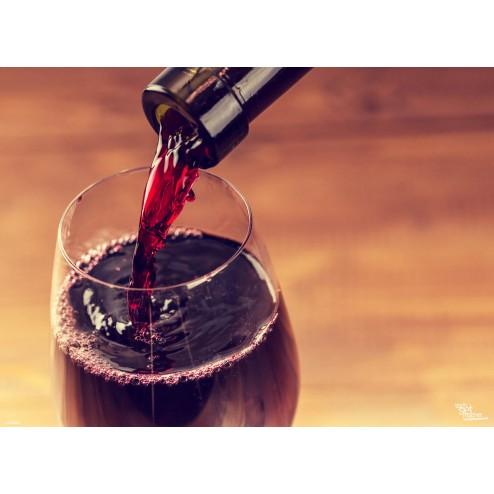 Tischset | Platzset - Rotwein einschenken nah - aus Papier - 44 x 32 cm
