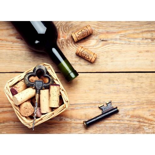 Tischset | Platzset - Schlüssel-Korkenzieher - aus Papier - 44 x 32 cm