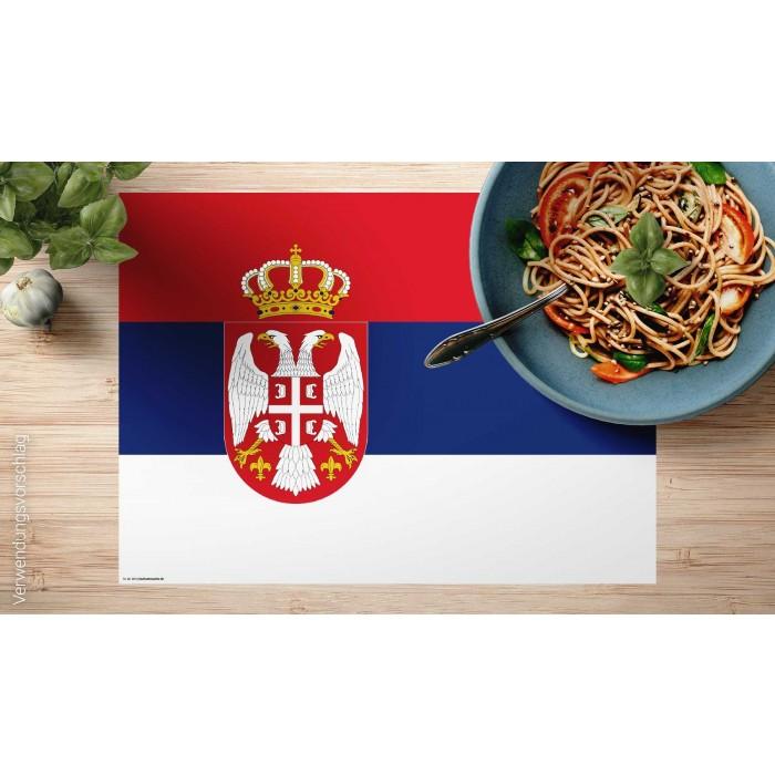 tischset platzset flagge serbien aus papier. Black Bedroom Furniture Sets. Home Design Ideas