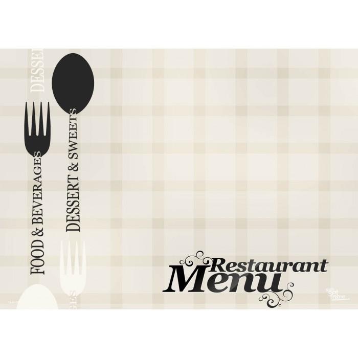 Platzsets Selbst Gestalten tischset platzset restaurantkarte zum selbstgestalten aus
