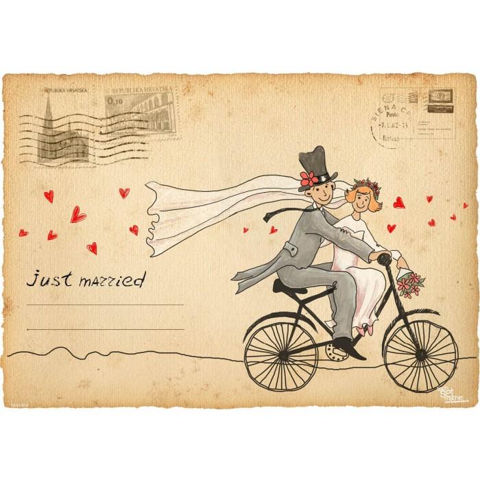 Platzsets Selbst Gestalten tischset platzset just married zum selbstgestalten aus papier
