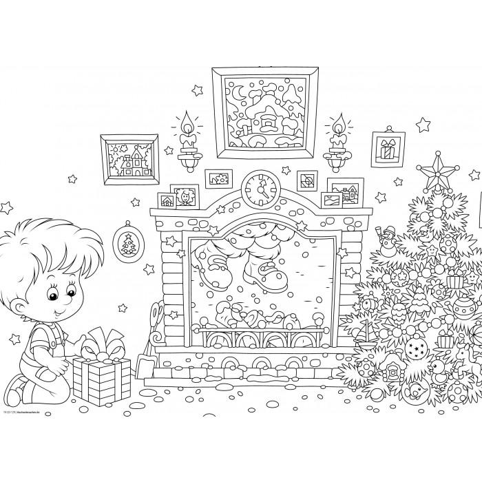 """tischsets   platzsets - malvorlage """"weihnachten-set"""" aus"""