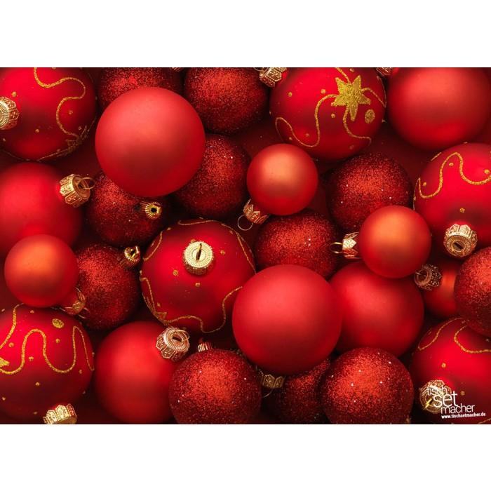 tischsets platzsets weihnachten rote kugeln aus. Black Bedroom Furniture Sets. Home Design Ideas