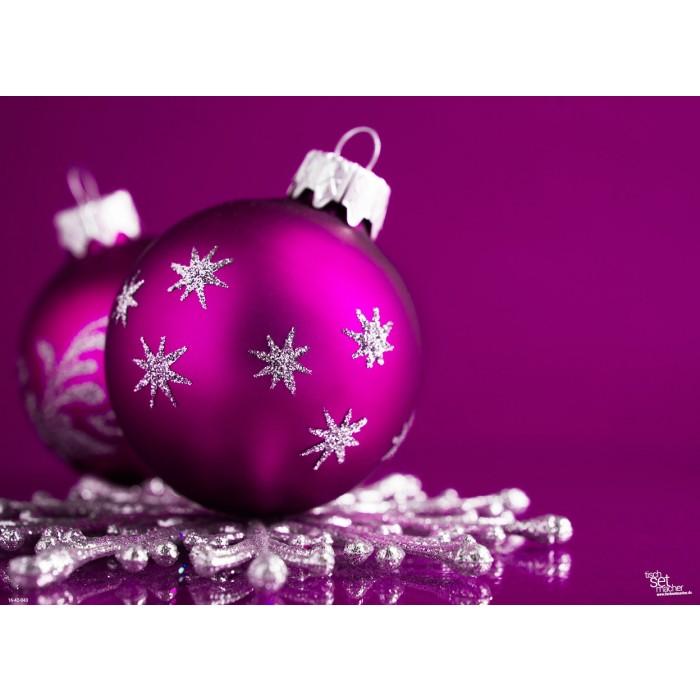 tischsets platzsets lila weihnachtskugel aus papier. Black Bedroom Furniture Sets. Home Design Ideas