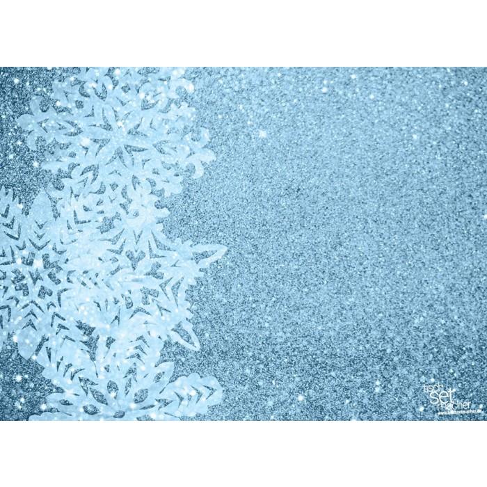 tischsets platzsets weihnachten schneekristall links aus papier 44 x 32 cm. Black Bedroom Furniture Sets. Home Design Ideas