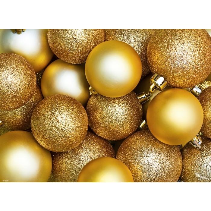 tischsets platzsets goldene weihnachtskugeln aus papier 44 x 32 cm. Black Bedroom Furniture Sets. Home Design Ideas