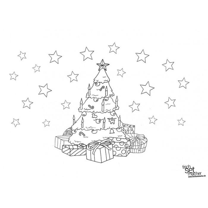 tischsets  platzsets  malvorlage weihnachten